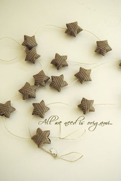 easter rustic decoration - primitive style - st. patricks day gift - ORIGAMI garland by Allweneedisorigami on Etsy. $11.00, via Etsy.