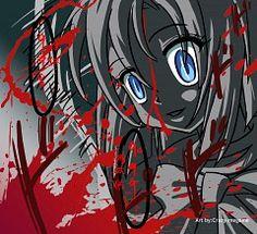 Ryuuguu Rena - Higurashi no Naku Koro ni - Image - Zerochan Anime Image Board Dark Color Palette, Dark Colors, Im Losing My Mind, Lose My Mind, Moe Anime, Manga Anime, Yandere, Creepy, Scary