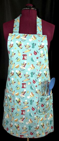 Kitchen Owls Adult Full Apron