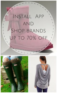 Shop top brands like Ugg, VS Pink, Hunter and more at up to 70% off retail! Click the image to download the FREE Poshmark app and get started today. As featured in Cosmopolitan, The New York Times, and Good Morning America.