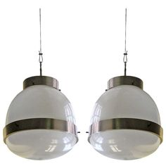 Pair of Suspension, Delta, designed by Sergio Mazza | From a unique collection of antique and modern chandeliers and pendants  at http://www.1stdibs.com/furniture/lighting/chandeliers-pendant-lights/