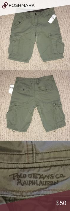 bee331eaa0 NWT Women's Ralph Lauren Polo Jean Cargo Shorts Ralph Lauren Polo Cargo  shorts. cotton Frosted sage color Size 6 Brand new with tags!
