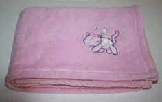 "Northpoint KITTY CAT Pink Baby Girl's Blanket Stars Soft Security Lovey about 27x39"" #Northpoint"