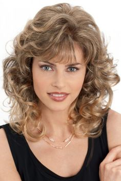 Estee by Louis Ferre Wigs - Monofilament Wig - June 02 2019 at Best Ombre Hair, Ombre Hair Color, Curly Wigs, Human Hair Wigs, Medium Hair Styles, Curly Hair Styles, Monofilament Wigs, Haircuts For Curly Hair, Long Curly