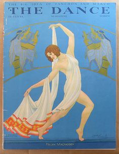 A large and expressive avant-garde gouache illustration painting by noted German/American artist and illustrator Carl Link, the dancer pictured is identified on the verso as Dorsha Hayes. Dance Magazine, Magazine Art, Magazine Covers, Old Magazines, Vintage Magazines, Art Deco Posters, Vintage Posters, Vintage Ads, Kitsch