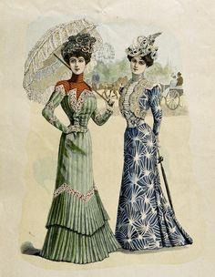 Edwardian fashion plate. 1900.
