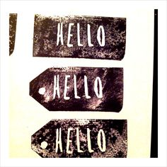 Handmade stamp *Hello*
