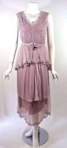 Nataya Purple Lavender Lace Dress Victorian Formal Gatsby Xl Downton Abbey