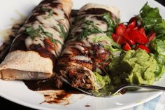 Red Burritos with Beef and Beans | Good Cheap Eats
