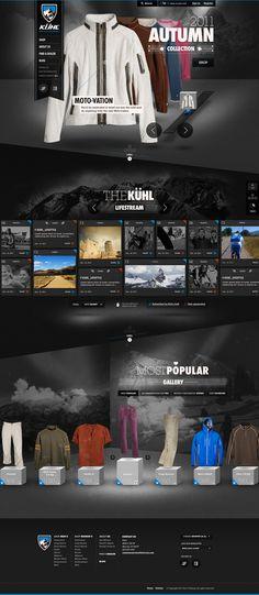 Various Early Kühl E-Commerce Concepts - Ben Cline // Creative Direction & Design