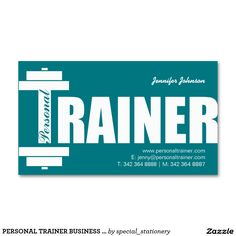 PERSONAL TRAINER BUSINESS CARDS | MODERN TEAL