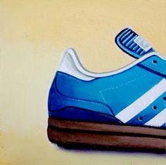 Adidas Still Life Painting of Blue Adidas Shoe, painting by artist Gerard Boersma Blue Adidas Shoes, Shoe Painting, Arts Ed, Still Life Art, Paintings I Love, Art Education, Art Lessons, School Stuff, Classroom Ideas