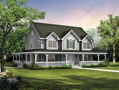 Eplans Farmhouse House Plan - Big Country - 2407 Square Feet and 4 Bedrooms from Eplans - House Plan Code HWEPL00908