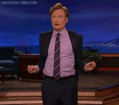 The Conan O'Brien dance.... easily in my top five of things that make me happy without fail.