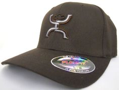 HOOey The Natural Dark Brown Hands Up Flex Fit Cowboy Cap 473f6f9fa290