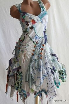 Juju & Christine Patch-Hippie-Flower dress... summer! totally crazy looking but somehow I'm drawn to it.