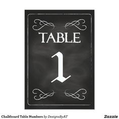 Chalkboard Table Numbers 3.5x5 Paper Invitation Card