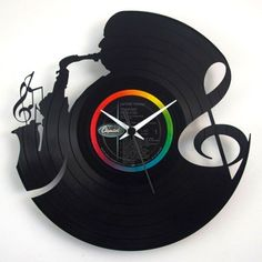 #Vinyl #Music #Clock