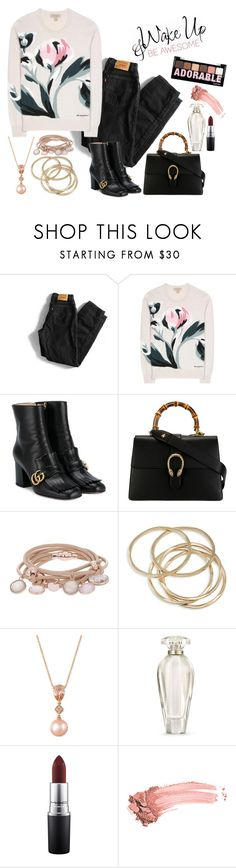 """""""Adorable"""" by christinemusal ❤ liked on Polyvore featuring Levi's, Burberry, Gucci, Marjana von Berlepsch, ABS by Allen Schwartz, LE VIAN, Victoria's Secret, MAC Cosmetics, Elizabeth Arden and Charlotte Russe"""