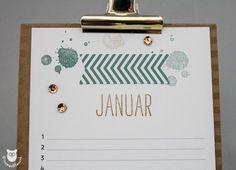 Stampin' Up! Geburtstagskalender Januar Detail