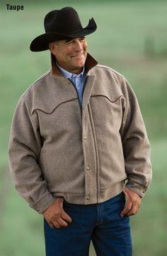 American Made Men's 550 Big Wool Country Rancher $200.00 http://www.schaefer-ranchwear.com/schaefer-store/mens-ranchwear/mens-outerwear/bighorn-bomber-44.html