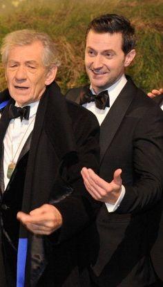 The Hobbit : An Unexpected Journey Premiere - Richard Armitage and Sir Ian McKellen