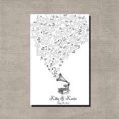 Thumbprint Musical Guestbook PDF by ladygreyshop on Etsy, $10.00