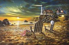 jim hansel artist   Jim Hansel Editions, LLC. Seaside Rendezvous