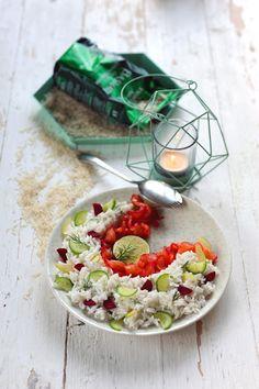 Dorian cuisine.com Mais pourquoi est-ce que je vous raconte ça... : Salade nordique au gravlax minute... ou quand un taureau voit la vie en couleur !