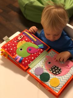 Handmade Quiet Book, Busy Book, Activity Felt Book, Montessori Toy, Children's Book – Baby Development Tips Baby Development In Womb, Baby Development Chart, Baby Development Milestones, Infant Activities, Book Activities, Baby Activity Board, Felt Quiet Books, Baby Presents, Busy Book