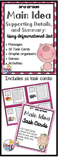 Main Idea Graphic Organizer For Students On Tpt Thank