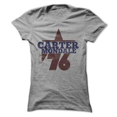Carter Mondale 76 retro 1976 politics #teeshirt #clothing