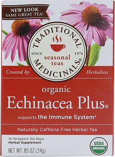Traditional Medicinals Organic Echinacea Plus® Herbal Tea #VitacostNFCA