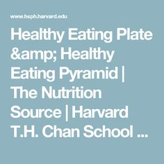 Healthy Eating Plate & Healthy Eating Pyramid   The Nutrition Source   Harvard T.H. Chan School of Public Health