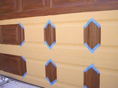 Garage Door Faux Wood Grained | Everything I Create - Paint Garage Doors To Look Like Wood