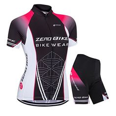 ZEROBIKE Women's Short Sleeve Cycling Jersey Jacket Cycling Shirt Quick Dry Breathable Mountain Clothing Bike Top -- See this great product.