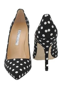 I have had some that look just like these for years  Oscar De La Renta Mimi Polka Dot Pump in Black (BLK-WHT) - Lyst