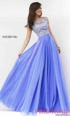 Prom Dresses, Celebrity Dresses, Sexy Evening Gowns - PromGirl: Floor Length Cap Sleeve Dress by Sherri Hill