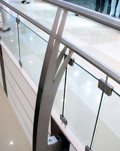 Balustrade Systems MABL 130-  Perhaps, the best-in-class and most stylish in its category, the MABL 130 Side Mounting Double Railing Balustrade captivates you with its first glimpse. A unique design that enables grip on two sides and a sheer tough hold makes it the strongest as well.  -Unique stylish design -Toughest-in-class Glass Balustrade, Glass Railing, Railing Design, Stylish, Unique, Home, Haus, Glass Handrail, Glass Handrail