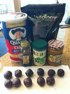 Shakeology chocolate/peanut butter oatmeal balls