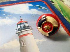 Anello con bottoni stile marina