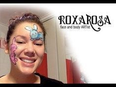 RoxaRosa face paint tutorial bunny