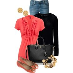 A fashion look from March 2015 featuring A. sweaters, Paige Denim jeans and Tory Burch shoes. Browse and shop related looks. Mature Fashion, Big Fashion, Passion For Fashion, Fashion Looks, Fashion Outfits, Fashion Art, Paige Denim Jeans, Boyfriend Jeans, Cool Outfits