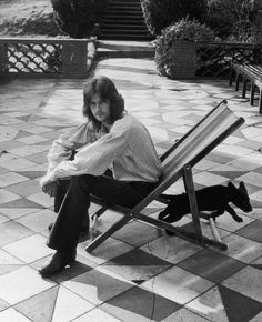 Eric Clapton alone at home in Surrey (1971), during his heroin year.