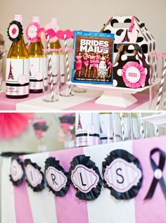 Paris themed girls night in party photo shoot for the release of Bridesmaids the movie at Target. Printables by andersruff.com