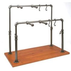 Industrial Pipe Hanging Jewelry Display Bea