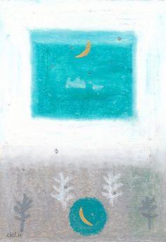 絵 三日月きょうだい。|絵を描く人ciel.w(しえる。) のふんわり ほんわり キラキラ ブログ♪