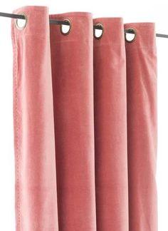 En-fil-dindienne - Rideaux en velours Lyric - Rose-Poudre - 140x280 cm - Home Beddings and Curtains