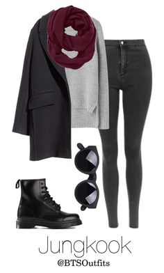"""""""Winter Date with Jungkook"""" by btsoutfits ❤ liked on Polyvore featuring rag & bone, H&M, Athleta and Dr. Martens"""