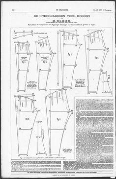 De Gracieuse. Geïllustreerde Aglaja, July 15, 1877, page 142  Men's Pants